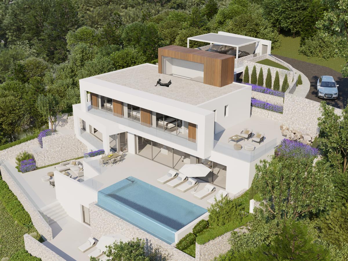 Impressive plot and design of the villa